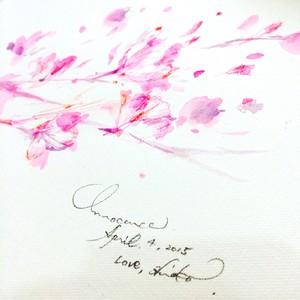◯ Innocence(〜 2015 Sa Ku Ra 〜) { 水彩画 ART }