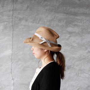 mature ha.(マチュアーハ)BOXED HAT 11cm brim mix brown × light gray 送料無料