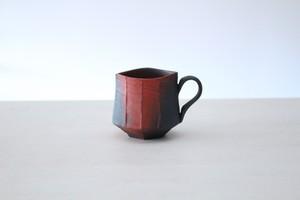 """陶芸作家【藤岡光一】coffee cup  コーヒーマグカップ 角形  """"夕映え"""""""