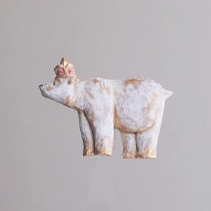 受注制作 ブローチ ホッキョクグマ  (Pin resin brooch Polar bear)