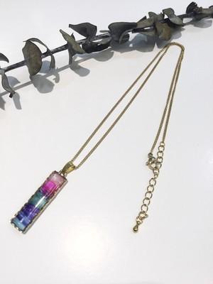 Willija 彩染めの木 ネックレス