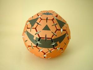 紙エコペーパークラフト ハロウィンお化けかぼちゃ