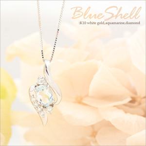 アクアマリンとダイヤモンドネックレス