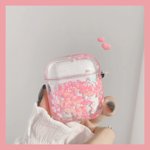 Cute liquid glitter airpods1/2 Pro case