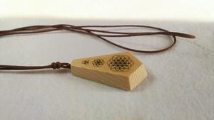 木のアクセサリー 青森ひばのネックレス フラワーオブライフ・シードオブライフ