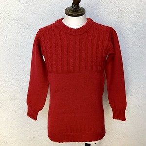 Guernsey Sweater Woollens Red Made In England / UK34