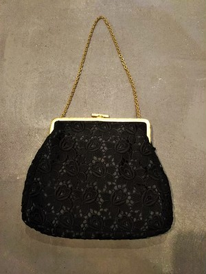 Flower lace chain bag [B-398]