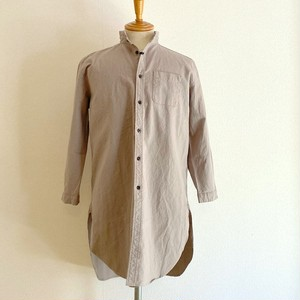 Linen Blended Cotton Rome Shirt Coat Greige