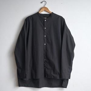 les trois entrepots オリジナル no.1 スタンドカラーシャツ ブラック