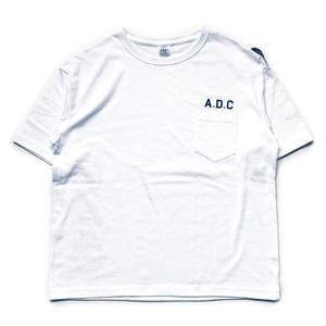slogan big silhouette tee (pocket) white
