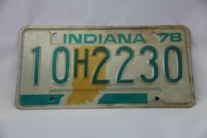 アメリカ ナンバープレートINDIANA 10H2230 |70's US Car License