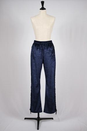 【Needles】fringe boots cut track pant crush velour-purple