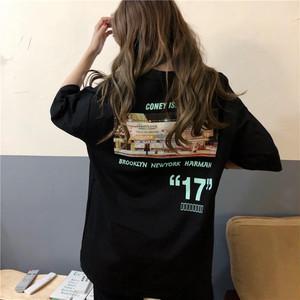 【送料無料】全2色♡メンズライク♡バックプリントロゴ入りTシャツ♡