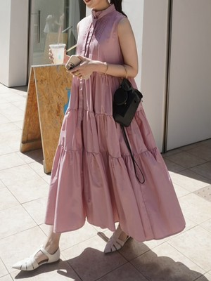 pin tuck tiered onepiece / pink 7/29 21:00 ~ 再販 (即納)