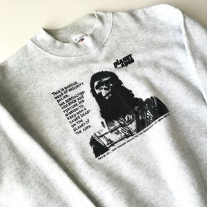 FRUIT OF THE LOOM : 90's 「PLANET OF THE APE」 print sweat shirt (used)
