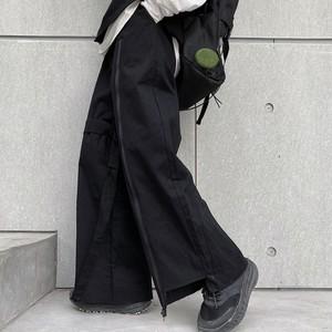 【ボトムス】無地切り替えファッションカジュアルパンツ34203171