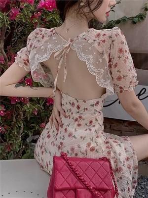 sexy back lace dress