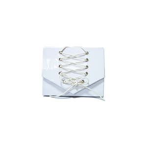 -White Braided HAND BAG-