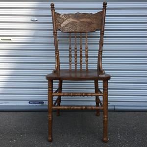 品番1414 木製 チェア ハイバック アンティーク 家具 011