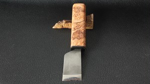 Maple burl/ANONYMOUS MADE 革包丁