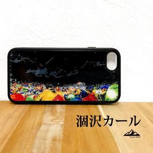 涸沢カール 穂高岳 強化ガラス iphone Galaxy スマホケース 登山 山 アウトドア 夜 星空 流れ星
