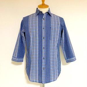 Cut Dobby Check Regular Collar 7/S Shirts Saxe