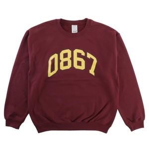 0867 / Sweatshirt / Arch / Logo / Burgundy