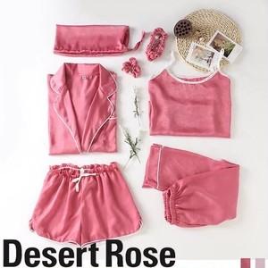 ルームウェア Tシャツ ショートパンツ 7点SET オールシーズン ピンク