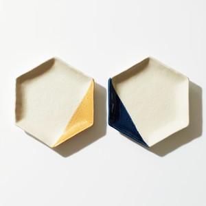 m.m.d. 取皿2枚セット(瑠璃/黄彩)[0130211966]