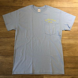 Freedom Sound  Embroidery Pocket Tee(Light Blue)