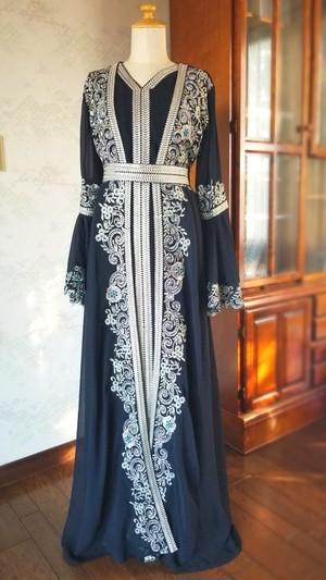 エジプト製ドレス 【ブラック】