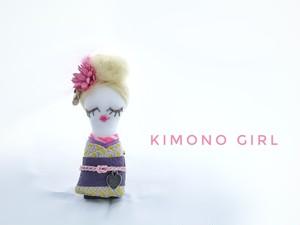wow❣ KIMONO GIRL(イエロー)ブローチ