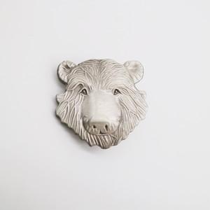 23546pins  木彫り熊 顔 ピンズ