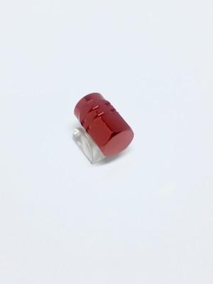 Aluminum Valve Hexagon Red