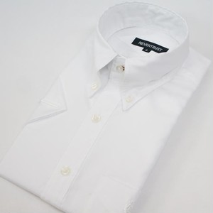 【形態安定】 Non-Iron Short Sleeve Shirt  / White