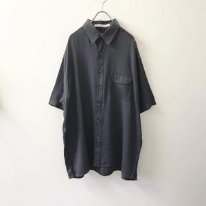 PERRY ELLIS ビッグシルエット 1ポケット ドレスシャツ グレー メンズ 古着
