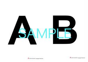 大文字 A~Z アルファベットカード データ
