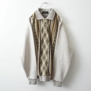 Vintage changed polo sweat-shirt