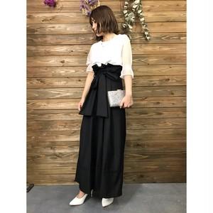 裾デザインスーパーワイドパンツ【&mode】