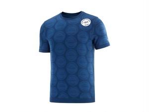 【超レア限定商品!】COMPRESSPORT コンプレスポーツ メンズ Training Tshirt SS Badges   Mont Blanc 2020  Blue トレーニング Tシャツ ショートスリーブ  バッジ付 モンブラン2020 ブルー AM00032L_500