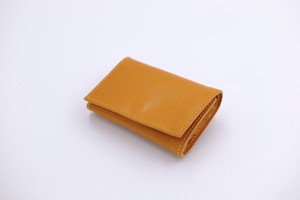 PLAY WALLET - LEATHER:VONOANILINE [YELLOW]
