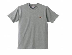 KYUSワンポイトフラッグTシャツ(グレー)綿100パーセント