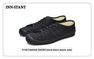 #108 CANVAS SHOES black/black (black sole) INN-STANT インスタント 【消費税込・送料無料】