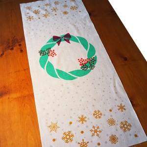 クリスマスリース・注連縄手ぬぐい/Christmas wreath・Sacred ropel Tenugui