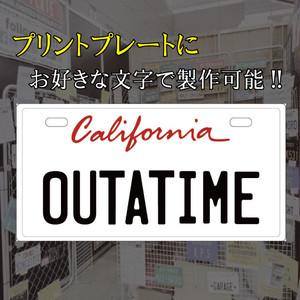 [文字変更可]赤カリフォルニア プリントプレート