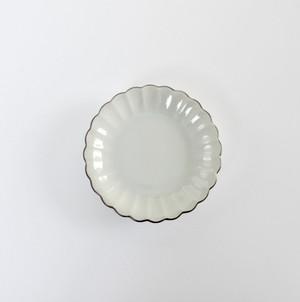 [KR21124] 九谷の白 菊 中皿