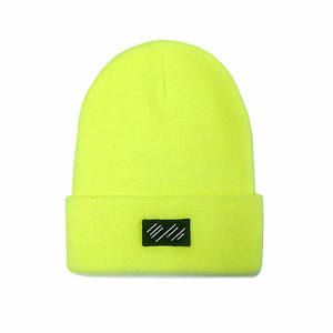 scar /////// BLOOD BEANIE (Neon Yellow)