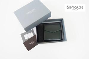 シンプソン ロンドン|SIMPSON LONDON|コインケース|小銭入れ|財布|ブライドルレザー|阪急百貨店限定|ダークグリーン