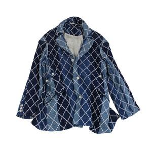 大青 Da Qing Jacket - Diamond Sashiko Gauze / MIAO BLUE