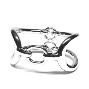 Hermès Vintage Sterling Silver Harness Bracelet